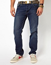 Loyalty &amp; Faith Jeans Straight Leg Dark Wwash