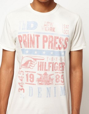 Image 3 ofHilfiger Denim T-Shirt with Vintage Press Print