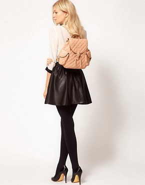 Image 3 ofASOS Mini Quilted Backpack