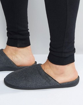 Totes Pillowstep Mule Slippers In Check