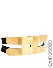 ASOS CURVE Wide Plate and Elastic Waist Belt