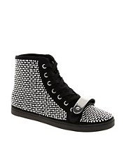 ASOS DRAMA Studded High Top Sneakers
