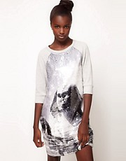 Lulu and Co Studio Sequin Sphynx Sweatshirt Dress
