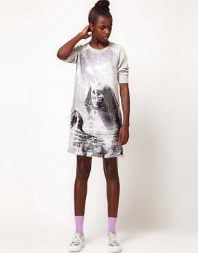 Image 4 ofLulu and Co Studio Sequin Sphynx Sweatshirt Dress