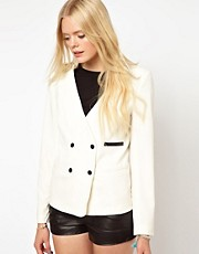 Selected Bree Blazer with Contrast Poppers