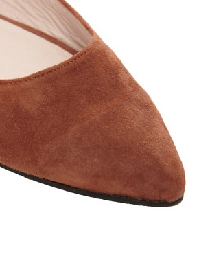 Image 2 ofGanni Ella Pointed Suede Ballet Flats