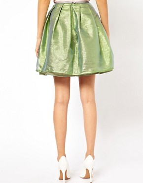Image 2 ofAntipodium XOXO Skirt in Opal Metallic