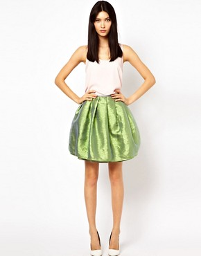 Image 1 ofAntipodium XOXO Skirt in Opal Metallic
