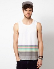 ASOS Vest With Hem Stripe
