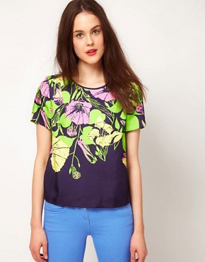 Image 1 ofWhistles &#39;60s Flower Print Top