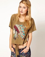Denim &amp; Supply By Ralph Lauren Tie Front T-Shirt