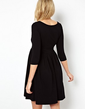 Image 2 ofASOS Maternity Skater Dress With Slash Neck