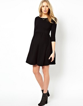 Image 4 ofASOS Maternity Skater Dress With Slash Neck