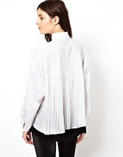 ASOS Shirt With Pleat Back Detail And Cocoon Sleeve