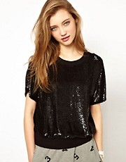Ashish Cut Out T-Shirt with Sequin Front