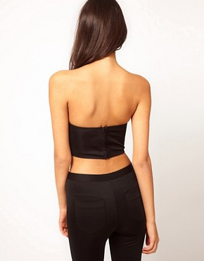 Image 2 ofASOS Crop Corset with Bow Detail