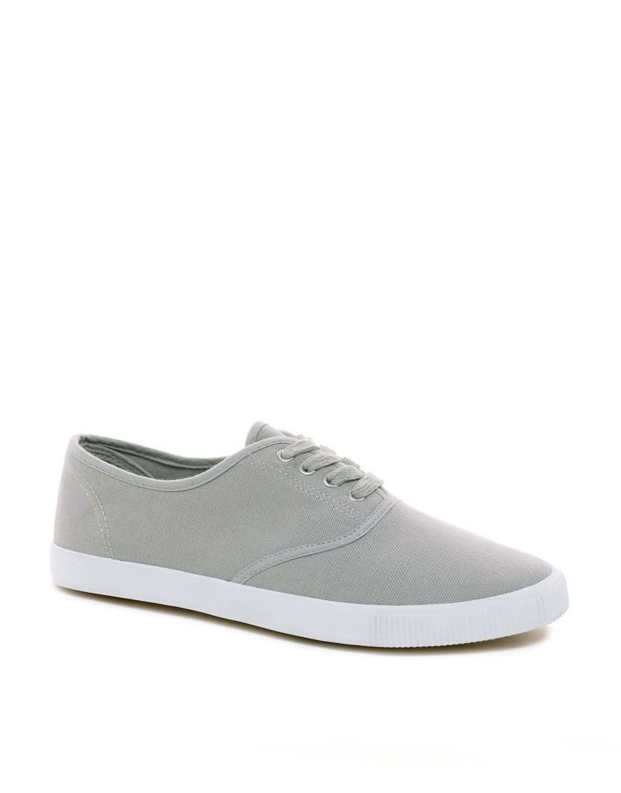 Image 1 of ASOS Oxford Plimsolls