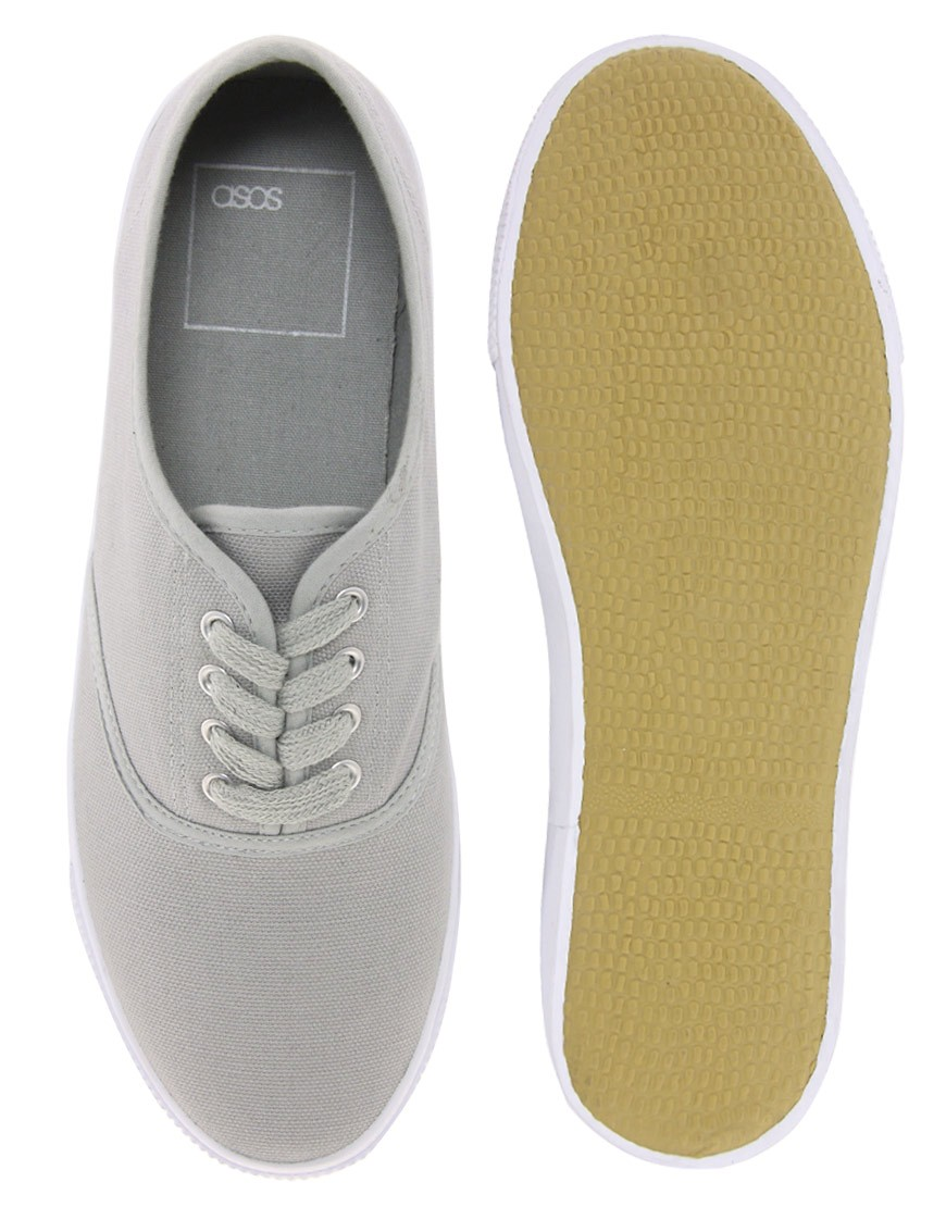 Image 3 of ASOS Oxford Plimsolls