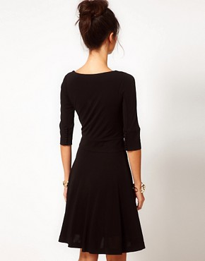 Image 2 ofHalston Heritage Classic Flippy Dress With Cowl Neck