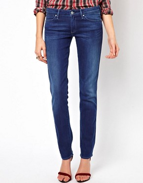 Image 1 ofWrangler Denim Spa Molly Skinny Jeans With Olive Extract