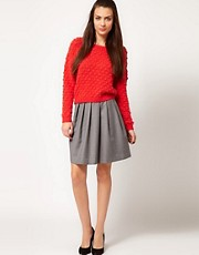 Selected High Waisted Full Skirt