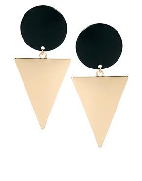 Image 1 - ASOS - Boucles d'oreilles heurtoir rond et triangle XL