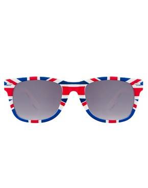 Image 2 ofASOS Union Jack Wayfarer Sunglasses