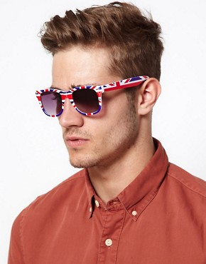 Image 3 ofASOS Union Jack Wayfarer Sunglasses
