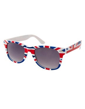 Image 1 ofASOS Union Jack Wayfarer Sunglasses