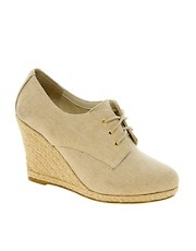 New Look EC Shield Lace Up Wedge Shoes