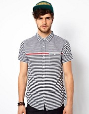 New Look Stripe Shirt With  Short Sleeves
