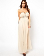 Little Mistress Sweetheart Plunge Bandeau Maxi Dress