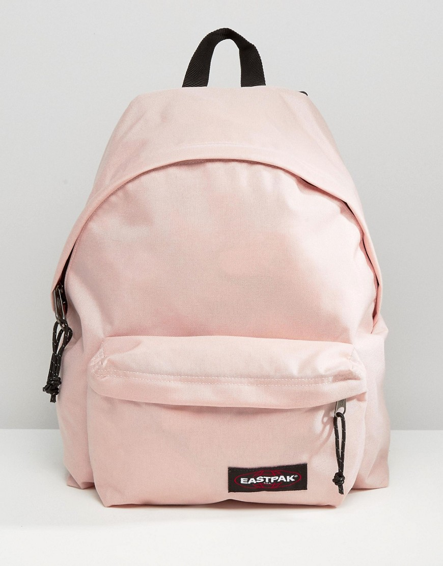 Eastpak Padded Pak R Leather Backpack In Black For Men: Eastpak Padded Pak R In Blush Pink At ASOS