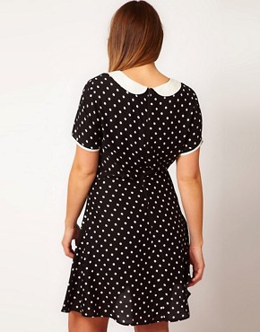 Image 2 ofASOS CURVE Exclusive Tea Dress In Spot