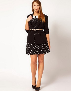 Image 4 ofASOS CURVE Exclusive Tea Dress In Spot
