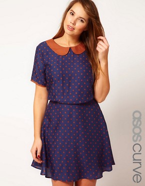 Image 1 ofASOS CURVE Exclusive Tea Dress In Spot