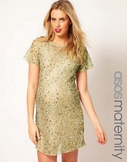 ASOS Maternity Shift Dress With Embellishment