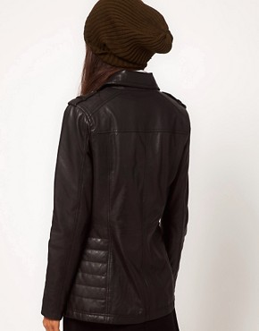 Image 2 ofASOS Longline Leather Jacket