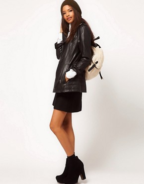 Image 4 ofASOS Longline Leather Jacket