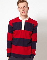 YMC Rugby Top with Stripes
