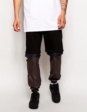 ASOS Slim Sweatpants With Zip Off Short Function