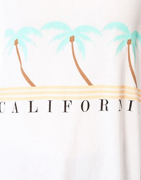 Image 3 ofWildfox California Coast Cabana Cropped Slouch T-Shirt