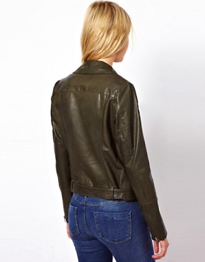 Image 2 ofOasis Rae Leather Biker Jacket