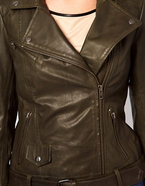 Image 3 ofOasis Rae Leather Biker Jacket