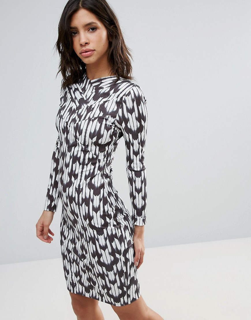 Talulah Brooklyn Long Sleeve Printed Dress - Brooklyn print