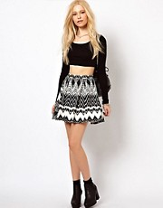 River Island Aztec Kitty Skirt
