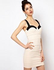 Rare Two Tone Bodycon Dress