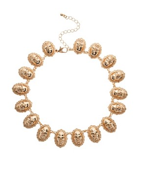 Image 1 ofASOS Skull Linked Necklace