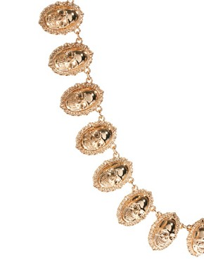 Image 4 ofASOS Skull Linked Necklace