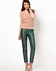 Sessun Lurex Brocade Peg Trousers